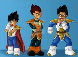 Vegeta's evolution part 1 by Sajren91