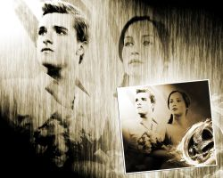 The Hunger Games. Catching Fire. Katniss and Peeta by StalkerAE