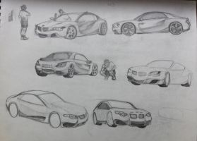 BMW Sketches by sandreezy