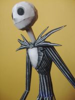 Jack Skellington Papercraft by randomzeldafan