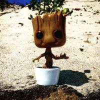 Groot playing in the sand by Jaehms