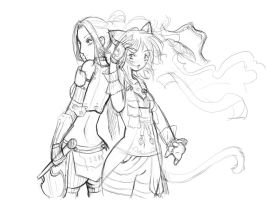 warrior and corsair : sketch by szienna