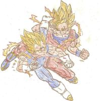 Goku vs Vegeta 2 by laguerrt