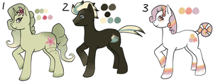 MLP Adoptables (Points) 1 - GONE by Railguns
