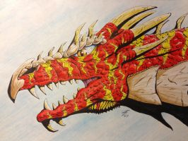 Striped Red Dragon by coyote117