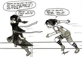 NTACFSSS Olympics - Sasuke and Itachi's race by HazelNutsandCream