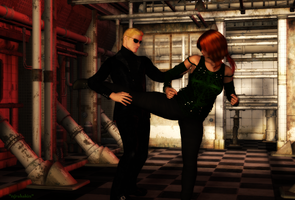 Shakahnna vs. Wesker by mjrahabim