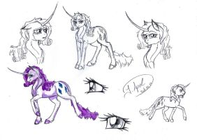 Sketchdump - Rarity by jessi-dragon-rider
