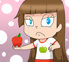 Robin - A RED apple? Why do you HATE ME?! by xahCHUx