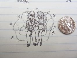 Tiny Couch Cuddles by Bloodstainedhowl