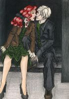 Draco and Ginny Pre Kiss by TinyQ