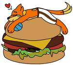 Burger Bed by Noobynewt