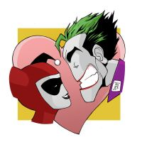 Harley Quinn and Joker by LorenzoSabia