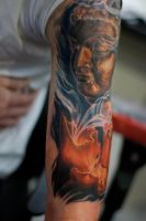 buddha head 2 by tattooneos