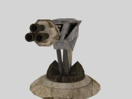 Gun Turret1 by OcAmee