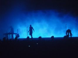 Silhouette Nine Inch Nails Live in Manchester 2014 by Nicole23