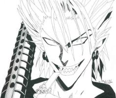 Hiruma smexy grin by Bakura-lover