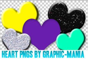 Heart pngs by Graphic-Mania