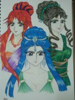 Dioses: The Olympian Sisters by ehatsumi