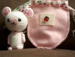 Cherry Blossom amigurumi by Tygermane