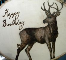 Deer Pyrograph by amoonlitdawn