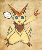 Fergus the Victini by Lost-in-Legends