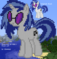 MC Pixel Art: DJ P0N-3/Vinyl Scratch by Jibodeah
