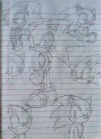 Sonic doodle by PokeSonFanGirl