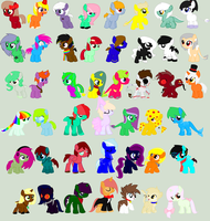 Large Pony Adopt Sheet ((OPEN)) by OoSynchronicityoO