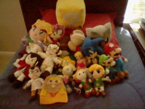 All my plushes ^_^ by TheHylianHaunter