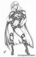 Evil Supergirl New52 pencils by gb2k