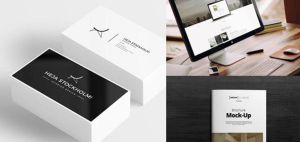 Free Business card, and workstation Mock-up by Designslots