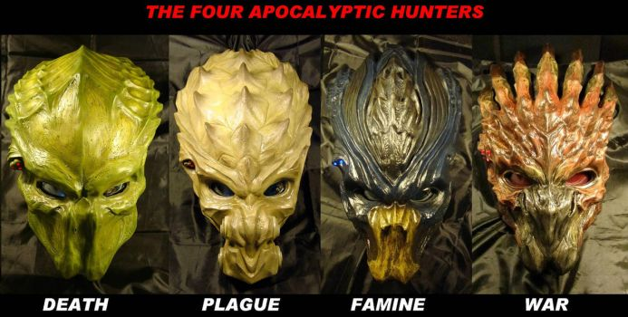 The 4 Hunters of Apocalypse by Uratz-Studios