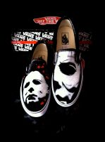 Halloween 4 Vans Michael Myers by VeryBadThing
