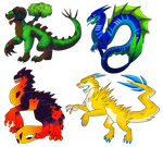 Elemental Dragons by Ricarderp