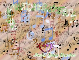 Music note brushes for gimp by PhaetonJP