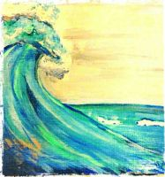 A wave painting  by ldymoon