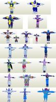 DBZ Xenoverse Villians and one Good Packs by PapercraftKing