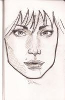 Girl Face by Lorredelious