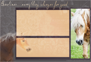 Howrse Layout: Haflinger by crystalcleargfx