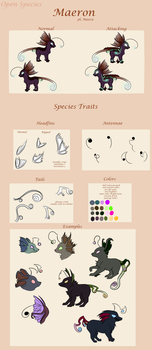 Open Species Sheet - Maeron by Forumsdackel