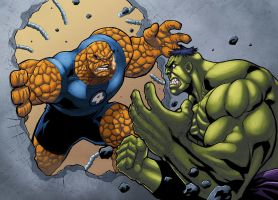Thing vs Hulk by logicfun