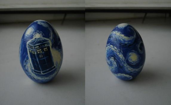 Vincent van Gogh egg by DalekJoy