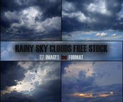 Sky clouds free stock by LilsRaven