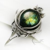 IXENVILH - Silver and Labradorite by LUNARIEEN