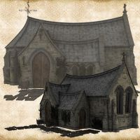 Premium Stone Chapel Set by Just-A-Little-Knotty