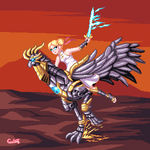 The princess and the Metal Rooster by clest