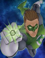 Green Lantern colored by nathanobrien