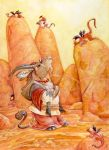 Antelope and Dragons by ursulav