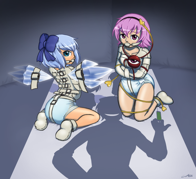 Cirno and Satori committed by The-Padded-Room